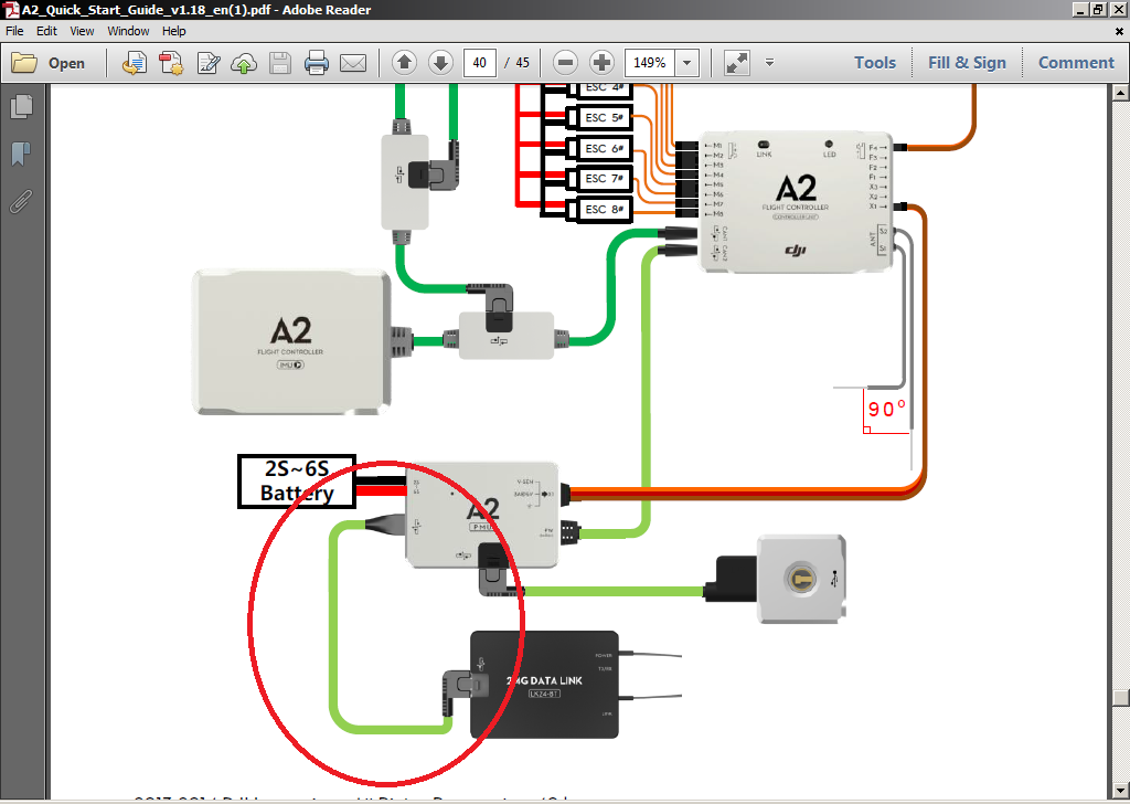 dji phantom fpv wiring diagram wiring diagram Auto Pilot DJI A2 Connection to An