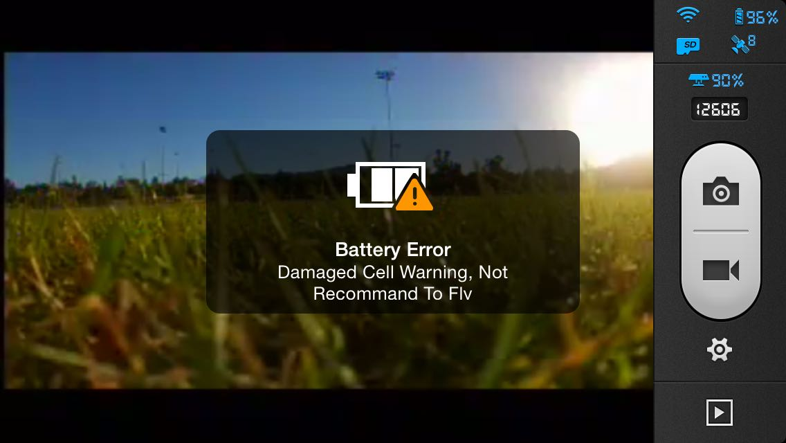 damaged cell warning