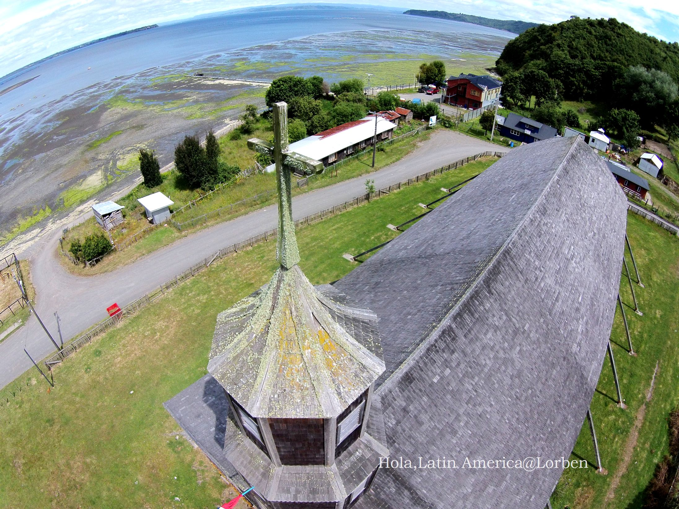Wooden churuch in Chiloe,Chile
