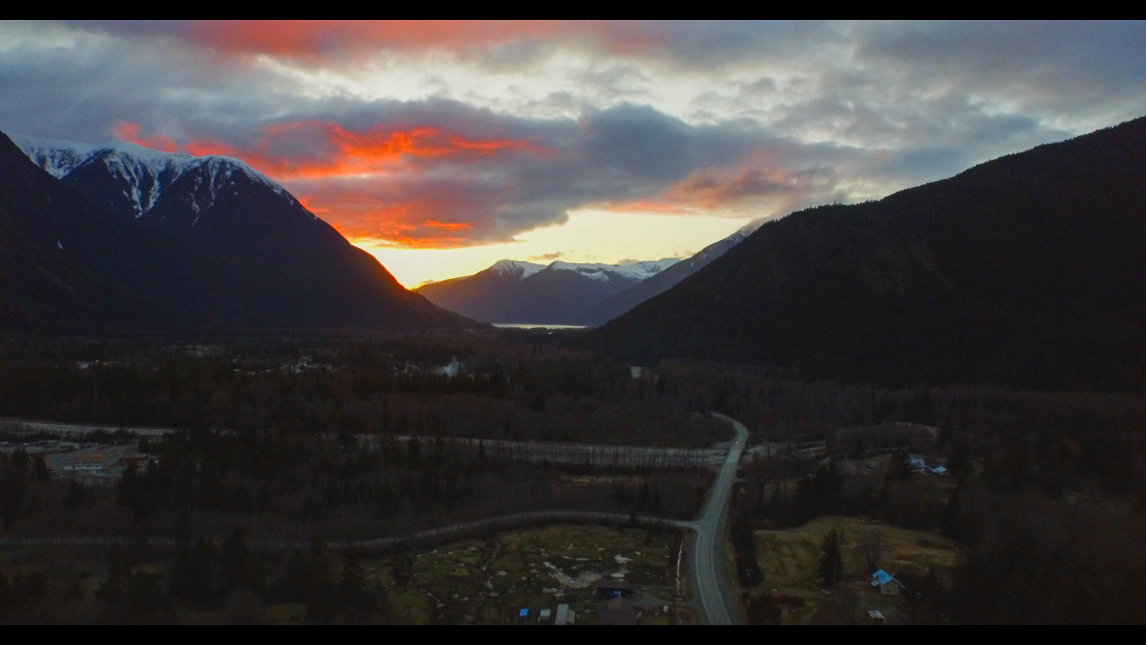 Sunset in British Columbia