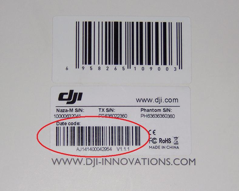 Where can I find DATE OF MANUFACTURE detail | DJI FORUM