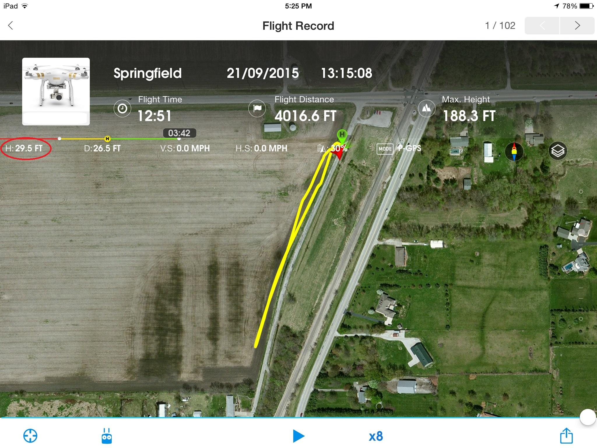 Flight Record (Altitude not close)
