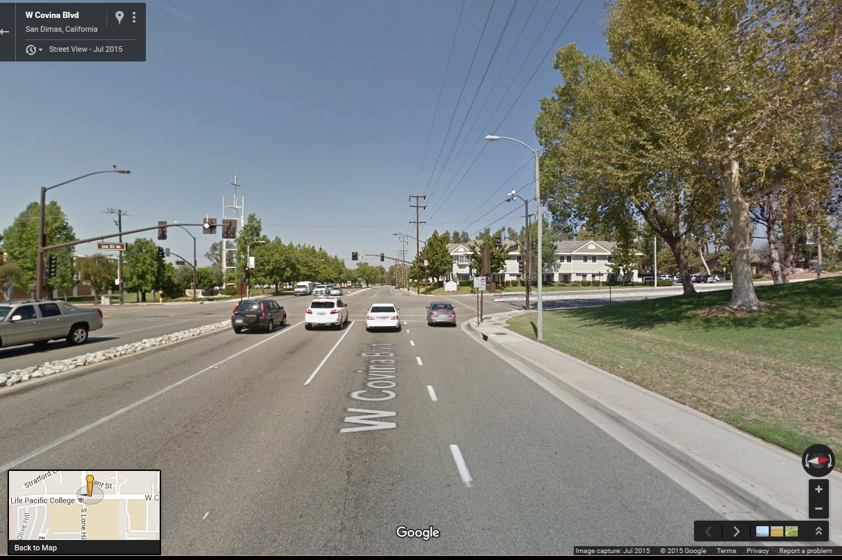 street view showing same view from inside truck.JPG