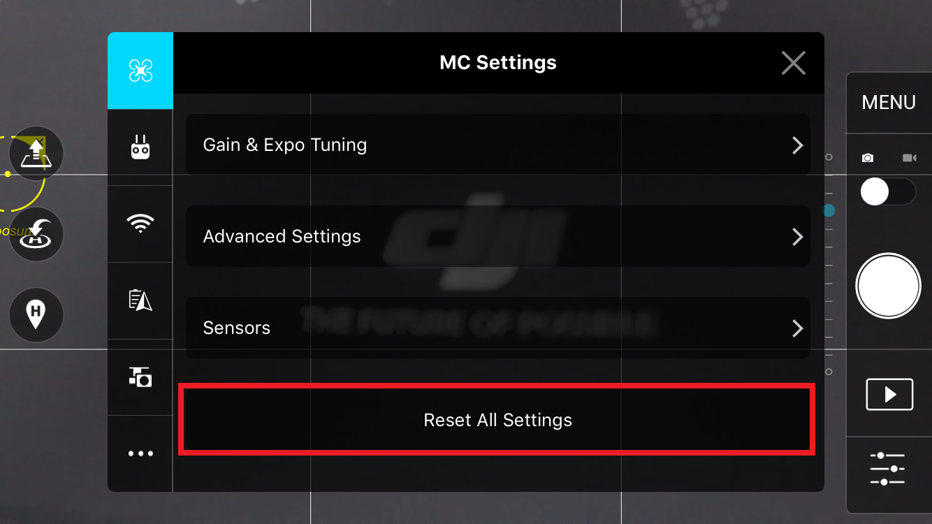 DJI GO Tutorial] MC Settings | DJI FORUM