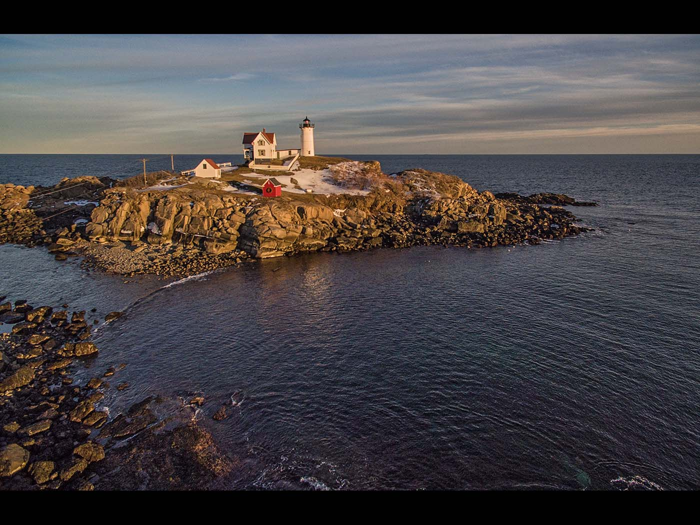 Nubble light sunset