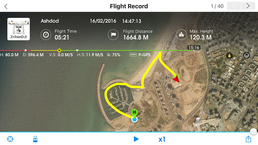 DJI GO Flight Record