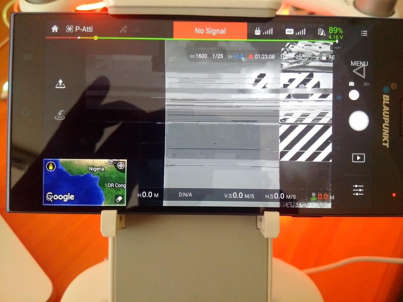 pressed video recording button