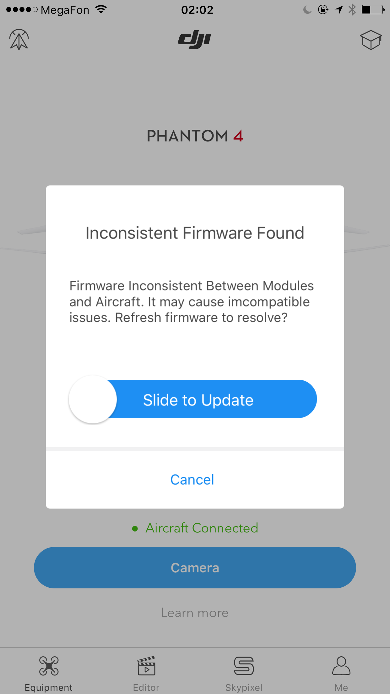 dji phantom 4 how to update firmware without assistant