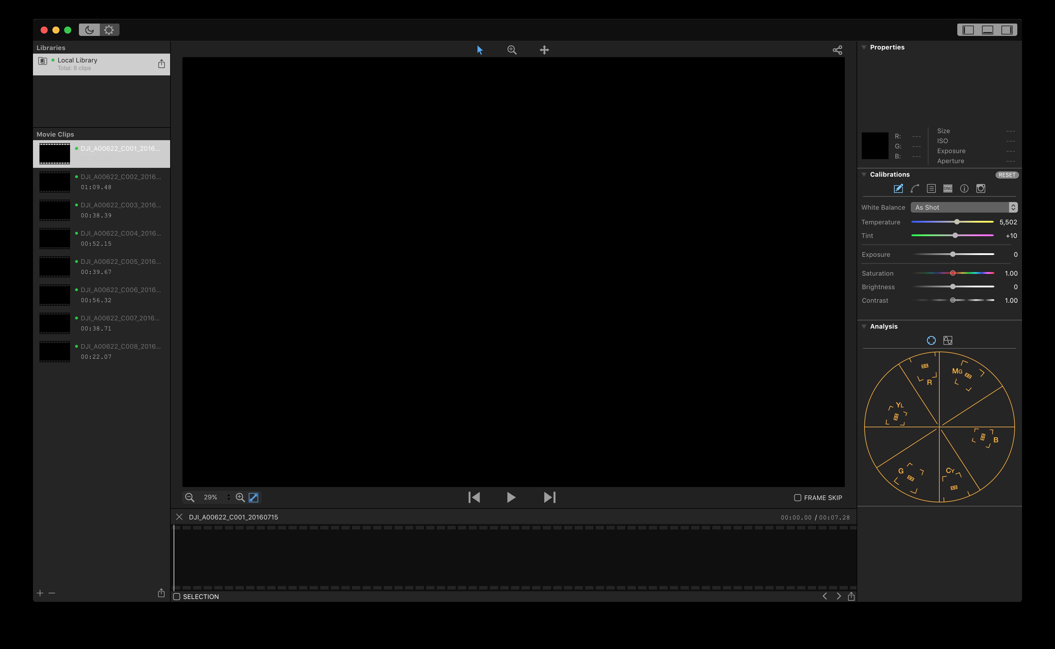 Cinelight interface