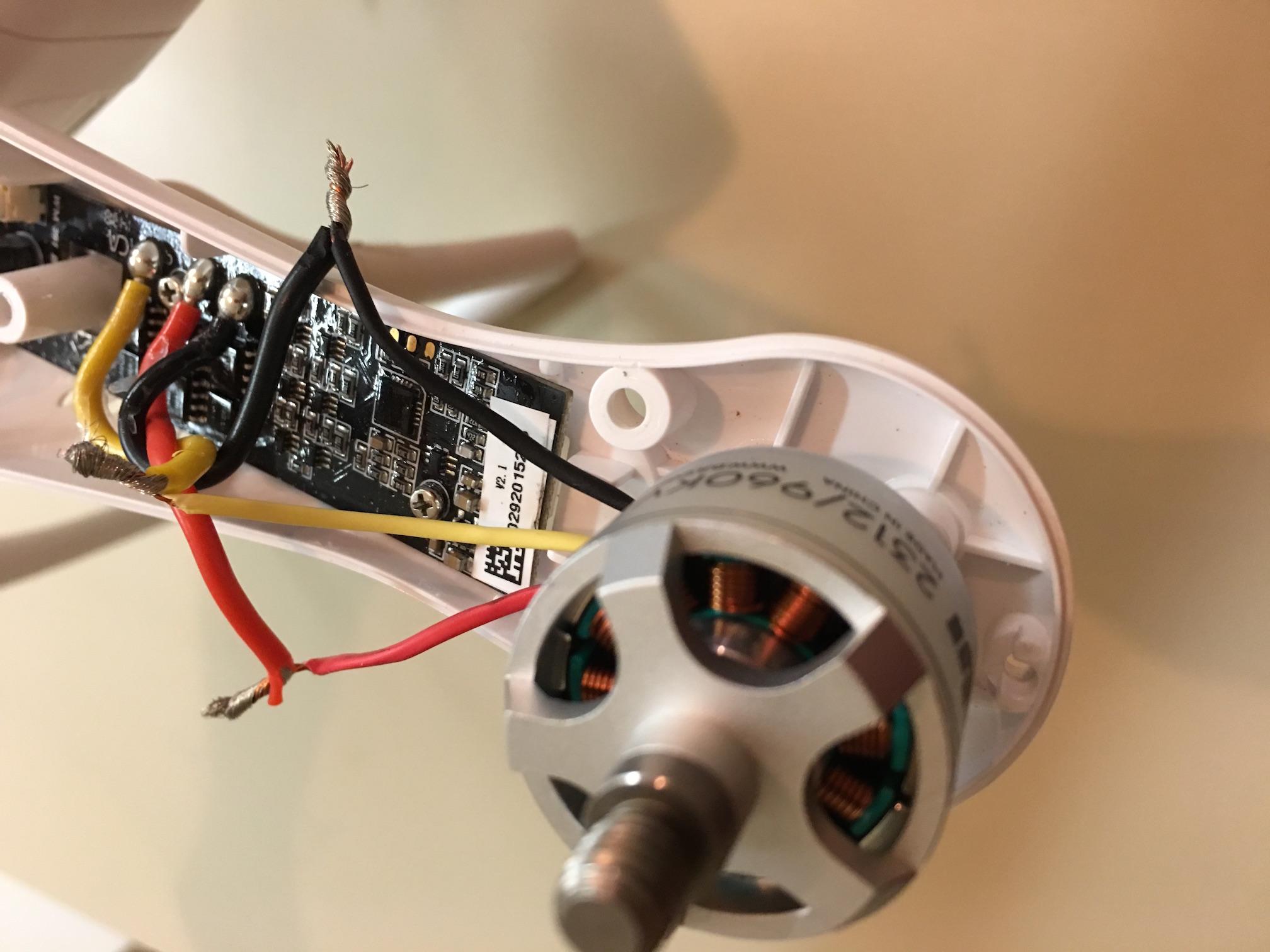 Replaced motors on phantom 2 stuttering on start ideas for Dji motors and esc