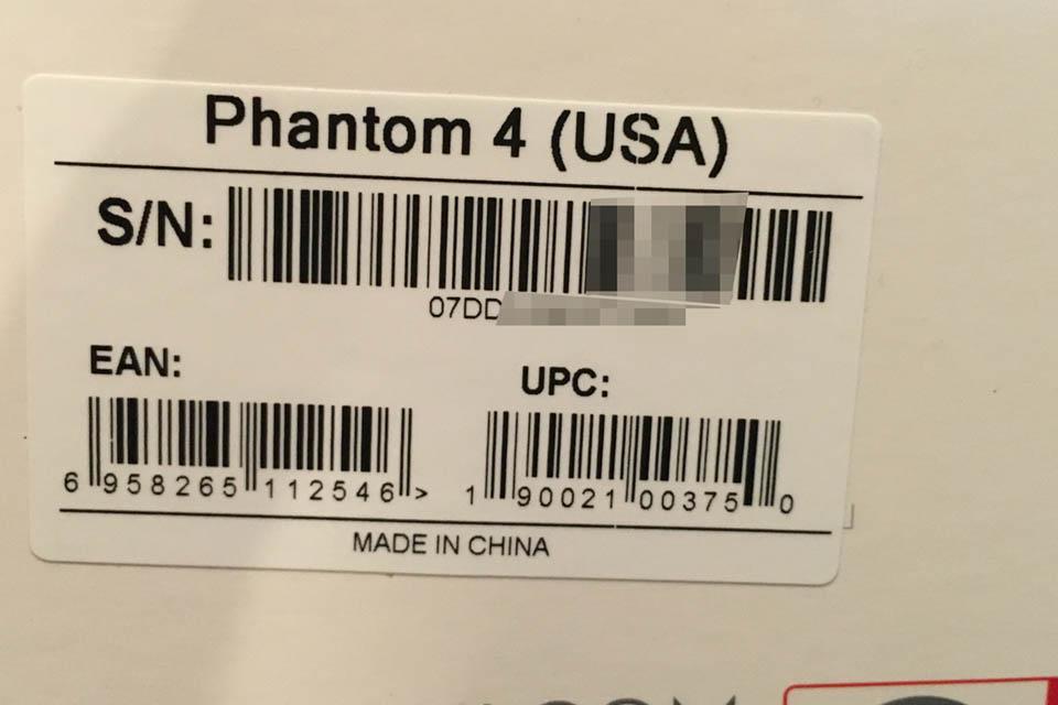 Phantom 4 Serial number | DJI FORUM