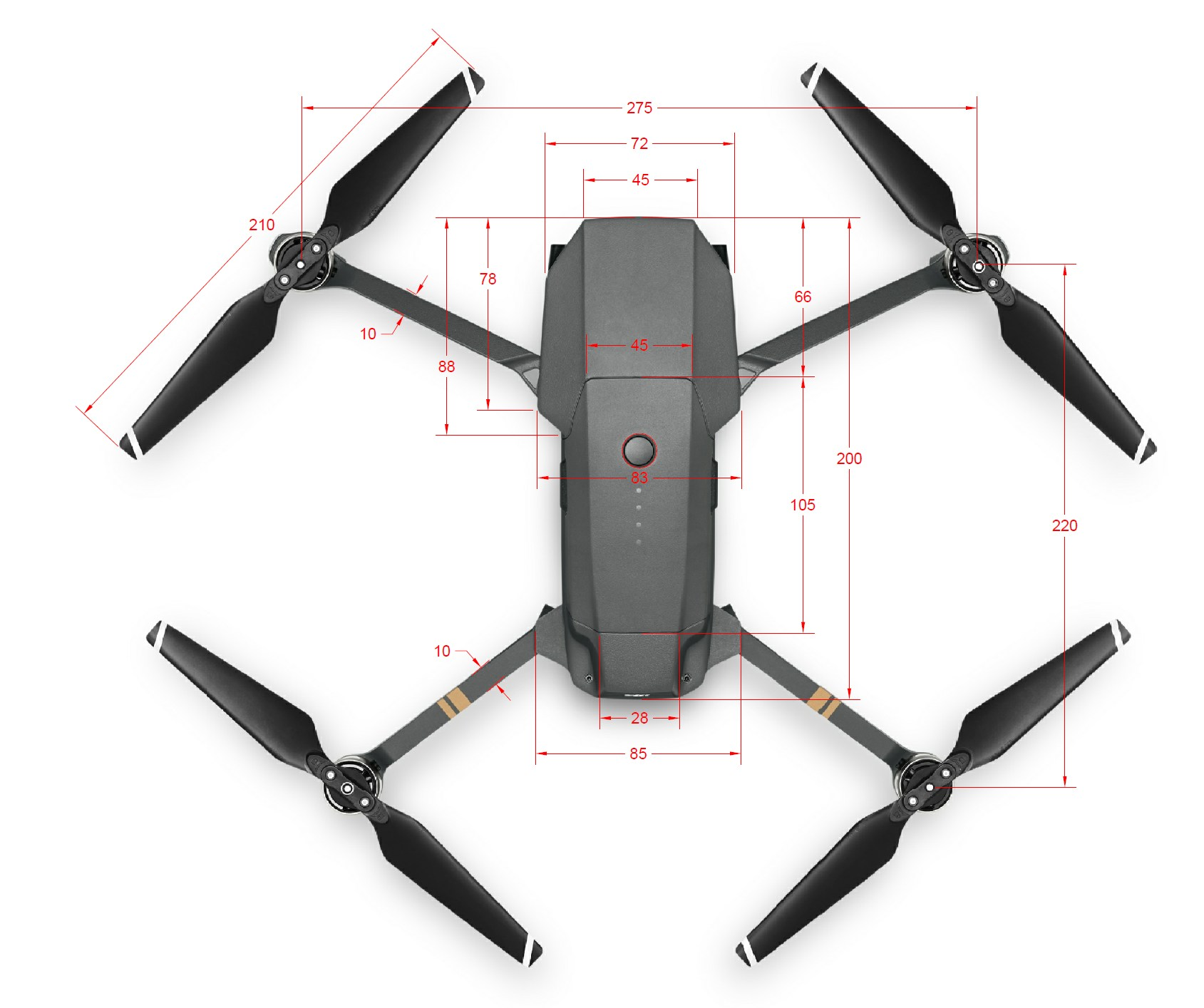 Favor Please Need Dimensions For Mavic Pro UPDATED
