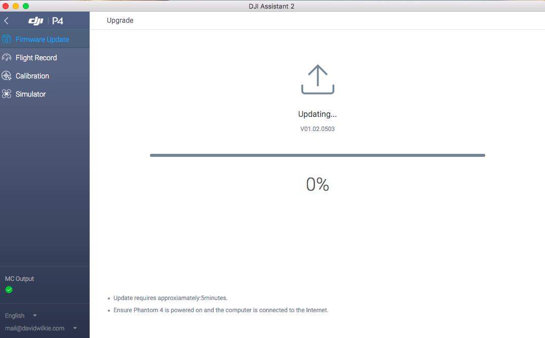 Firmware upgrade stuck on 0%   DJI FORUM