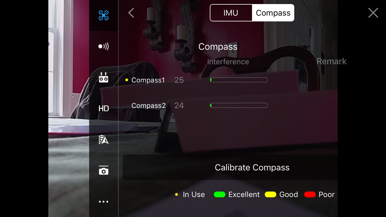 compass signal (indoors)