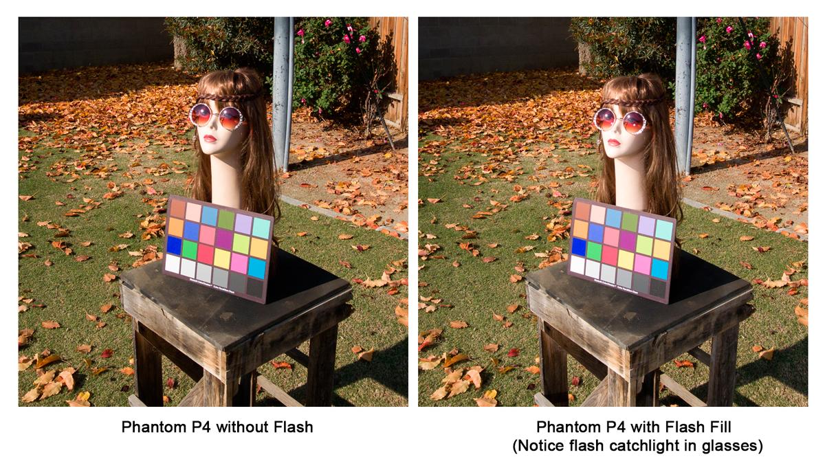 No flash vs. Flash Fill.