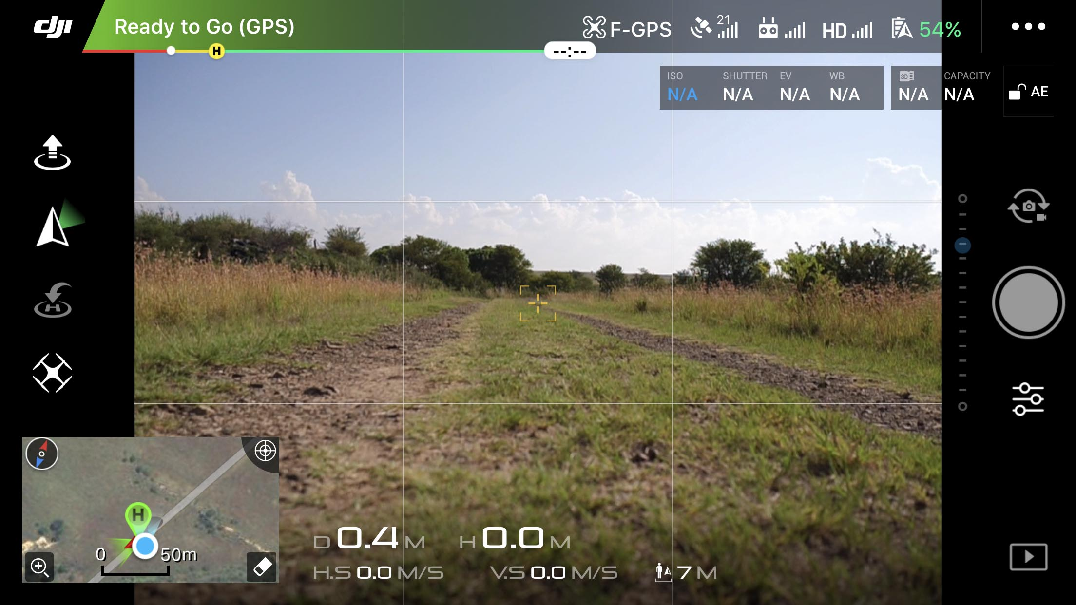 Camera Settings change to N/A