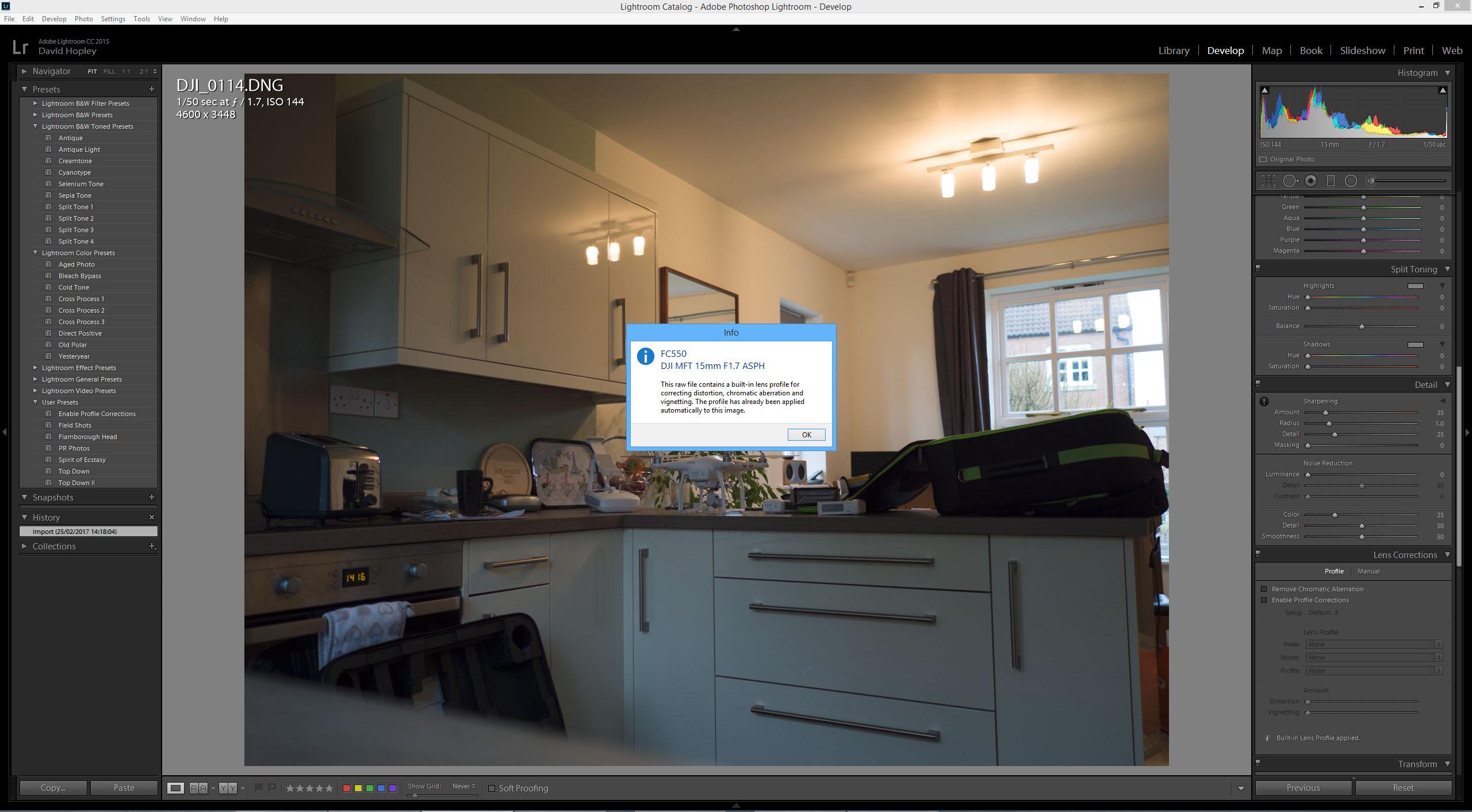 Lightroom Automatically Applying Lens Correction   DJI FORUM