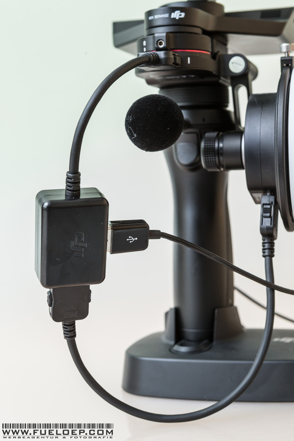 Mounted to the OSMO RAW