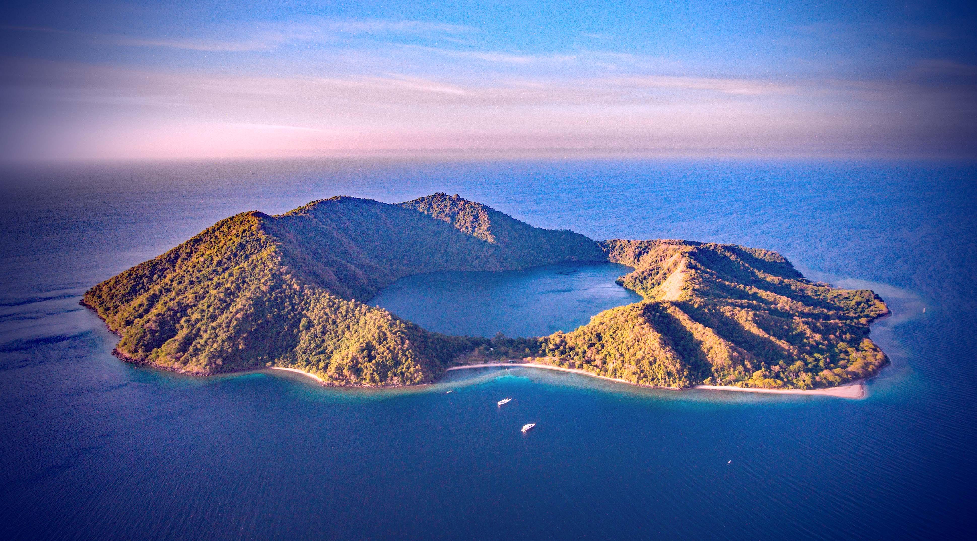 Satonda Island, an extinct Volcano in the Flores Sea.