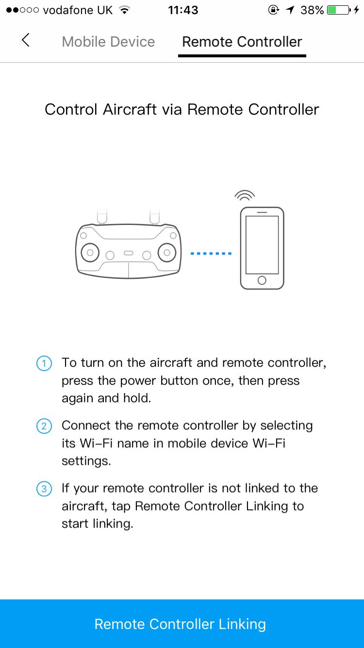 Adhoc wifi phone-remote control