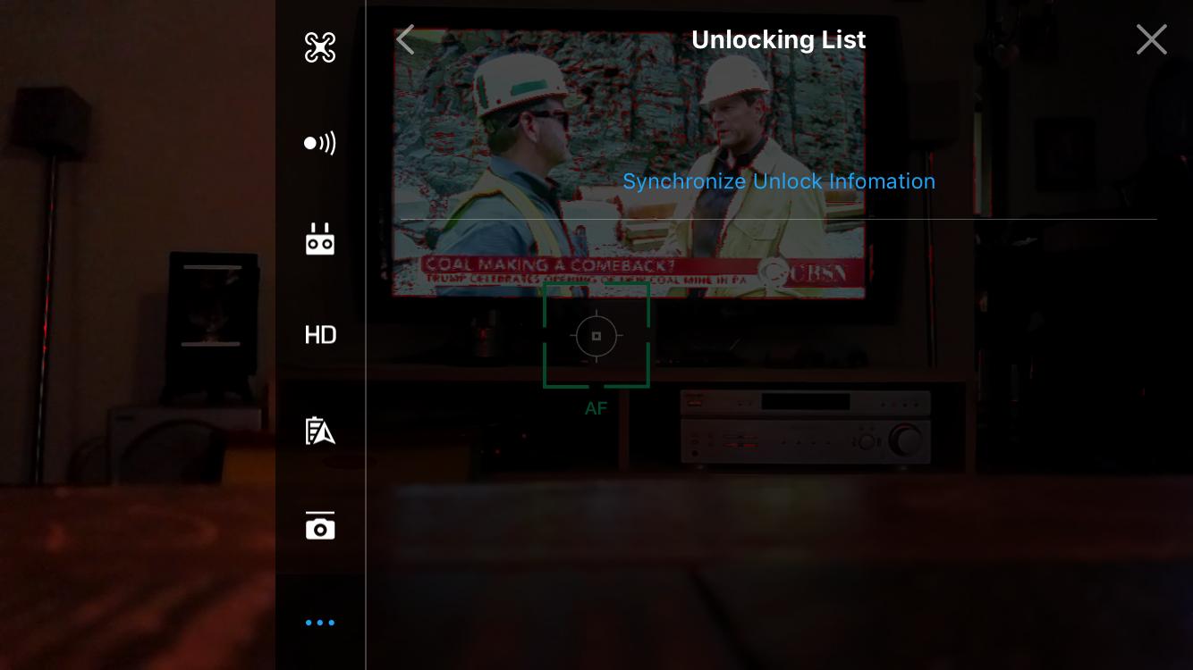 won't show unlocking list in dji4 | DJI FORUM