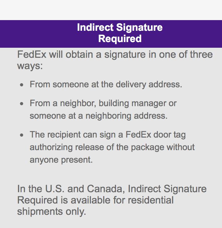 Fedex Door Tag & Snail Mail\u2026 Really?