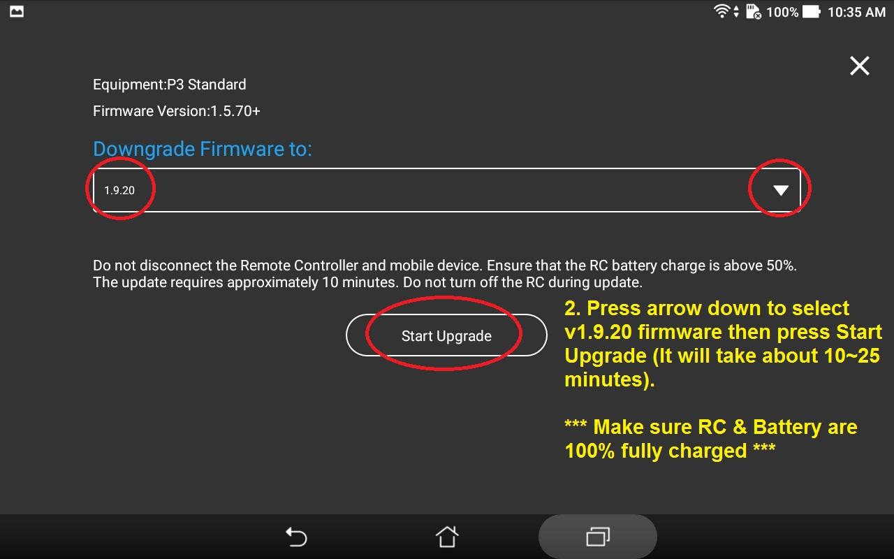 Step by Step Downgrade from v1 9 20 to v1 5 70 | DJI FORUM