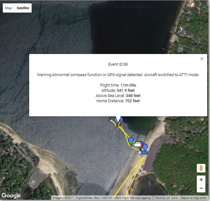 Showing location of error