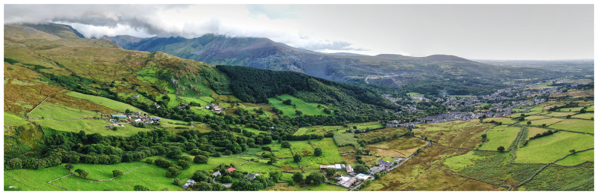 Bethesda in Snowdonia, North Wales