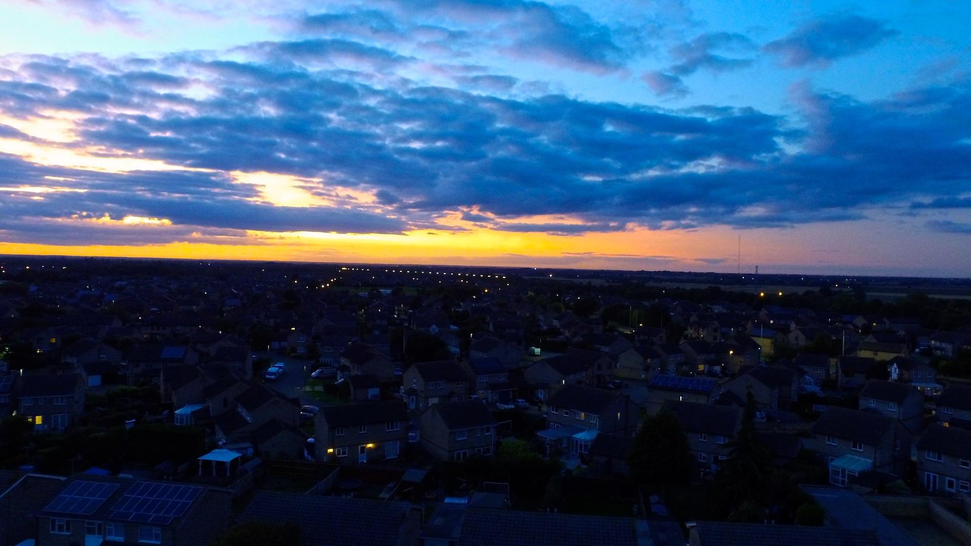 sunset over peterborough