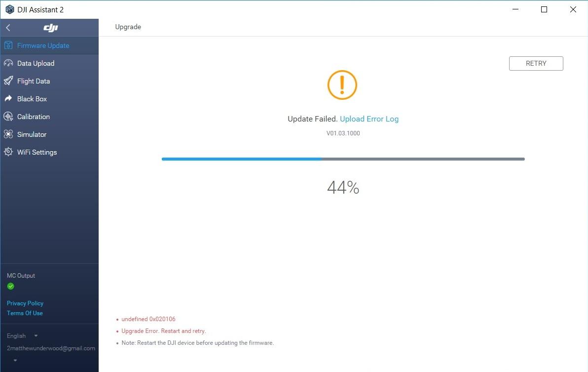Error while Firmware update