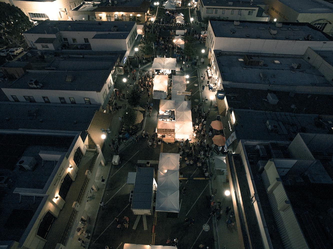 Oktoberfest Aerial