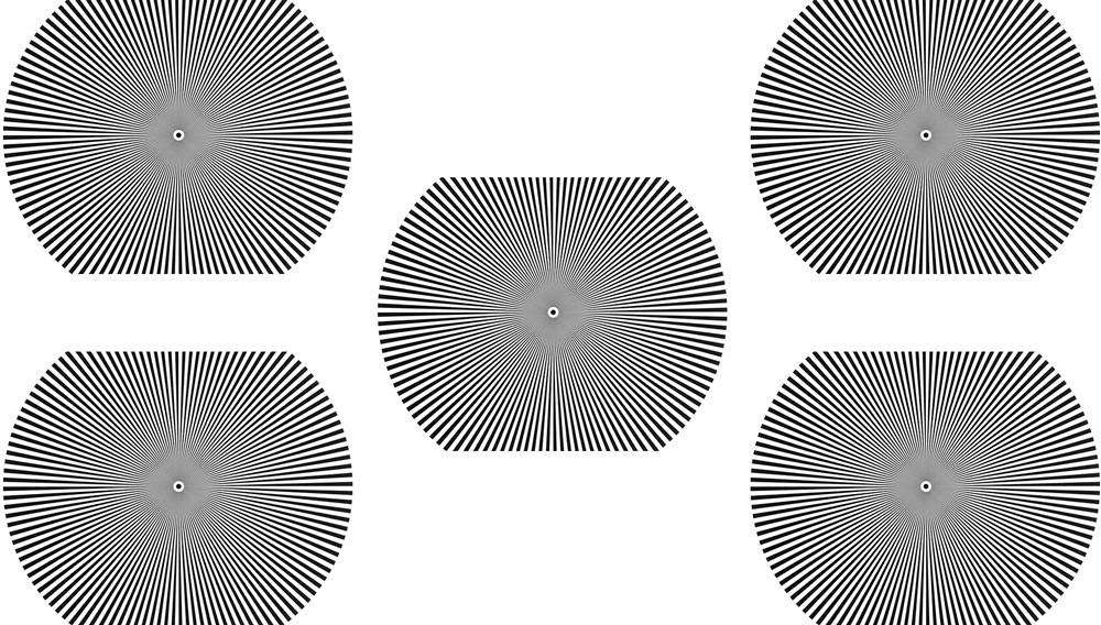 Zeiss Field  Siemen Start Flatness Chart