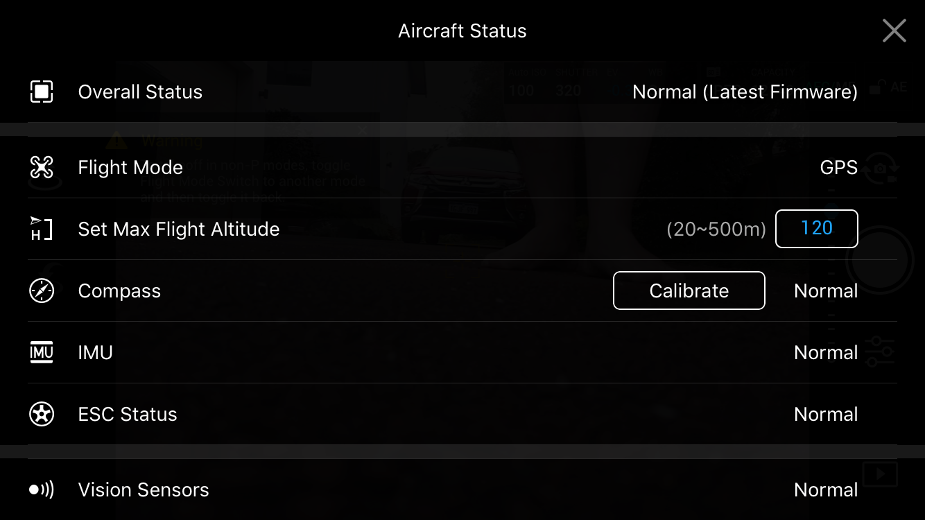 Can't access the intalligent flight modes on Mavic Pro  | DJI FORUM