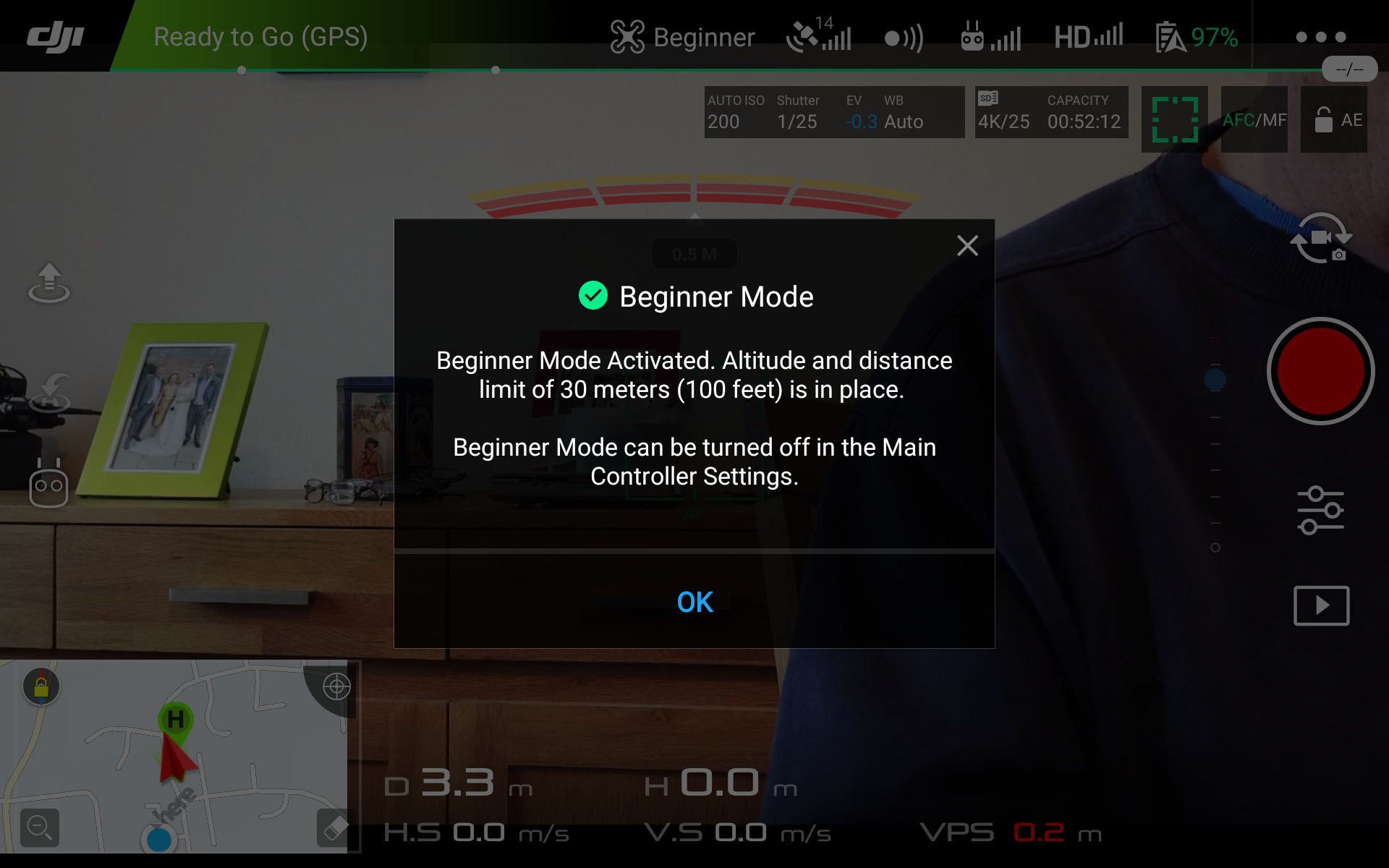 What does beginner mode do besides restrict altitude and