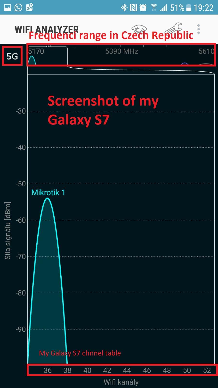 Screenshot running WiFi scaner on my phone