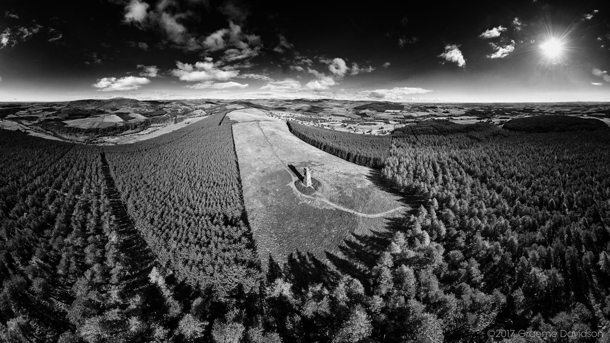 Airlie Monument Aerial BW.jpg