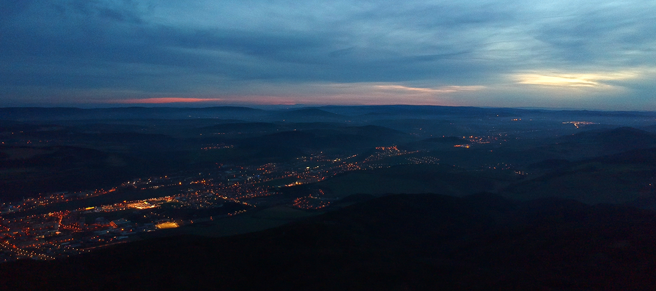 Night Panorama of Beroun