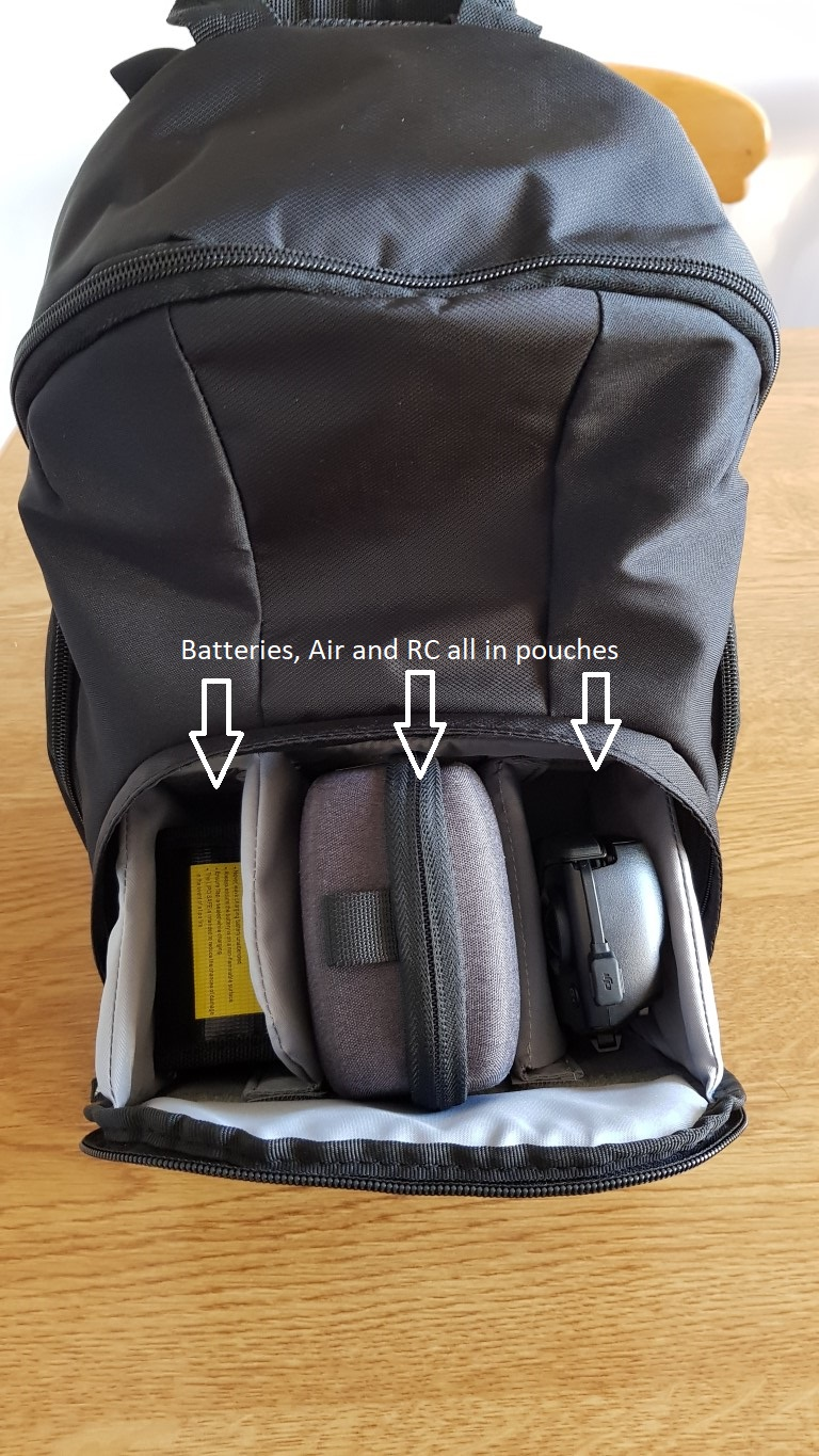 There are side pockets for spare props and the prop guards fit nicely into the top pocket. Its very neat there is even a storage area for a tablet (up to ... & Is this the best Mavic Air Bag ? | DJI Mavic Drone Forum