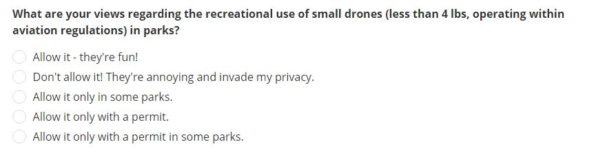 scroll down to vote for drones