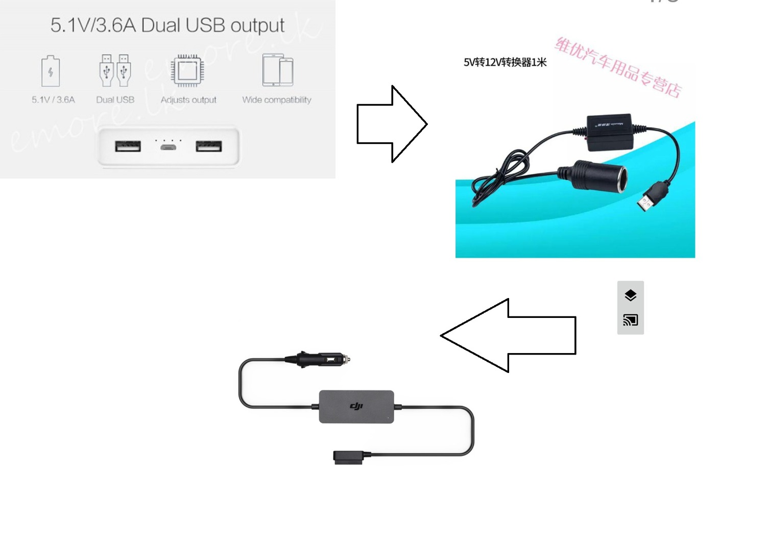 Can I Charge A Mavic Battery With Usb Power Bank Dji Forum Car Charger Adapter Circuit Design Schematic Hi Guys Do You Think This Combo Will Work