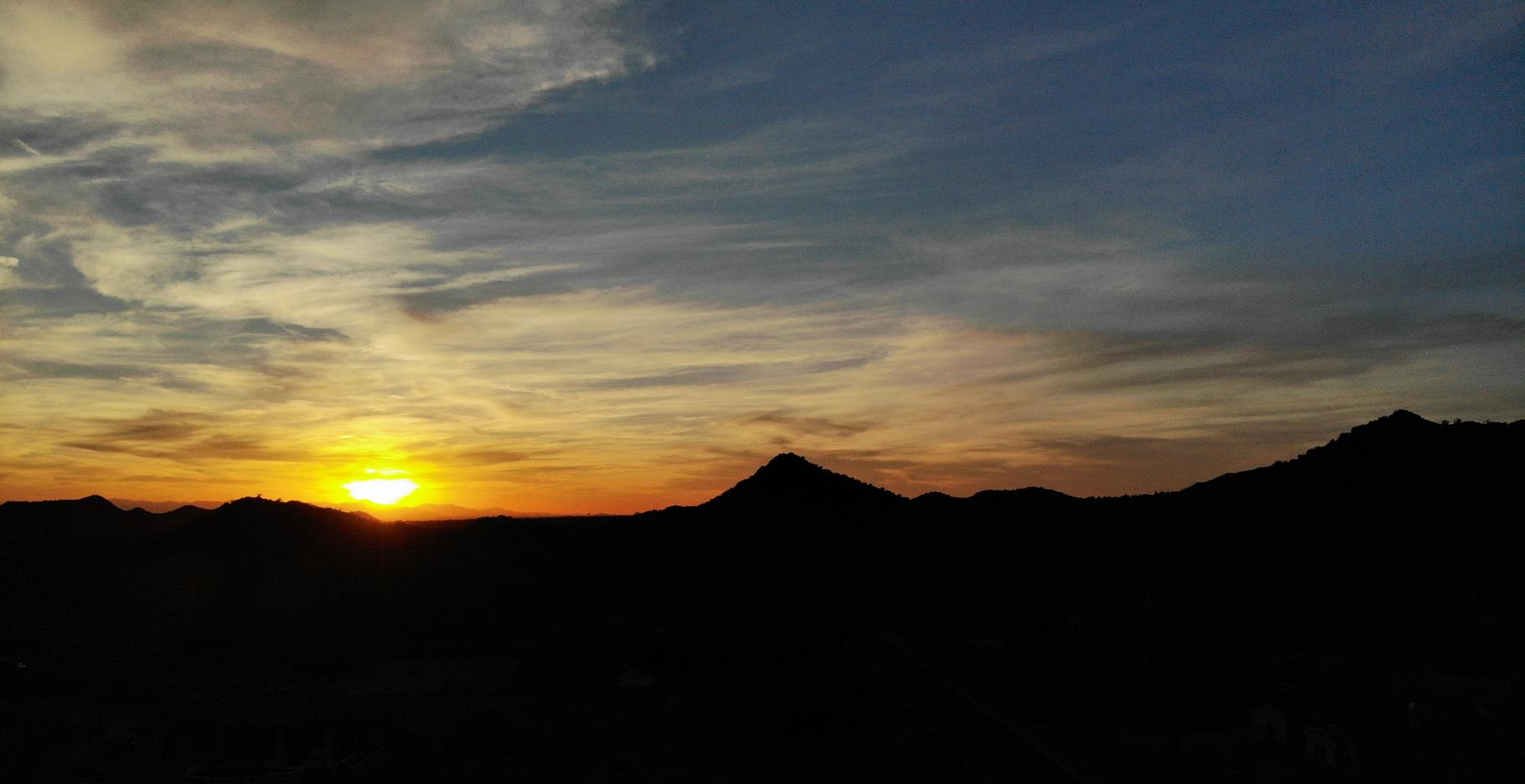 DJI Mavic Air shot of AZ desert sunset's waning moments