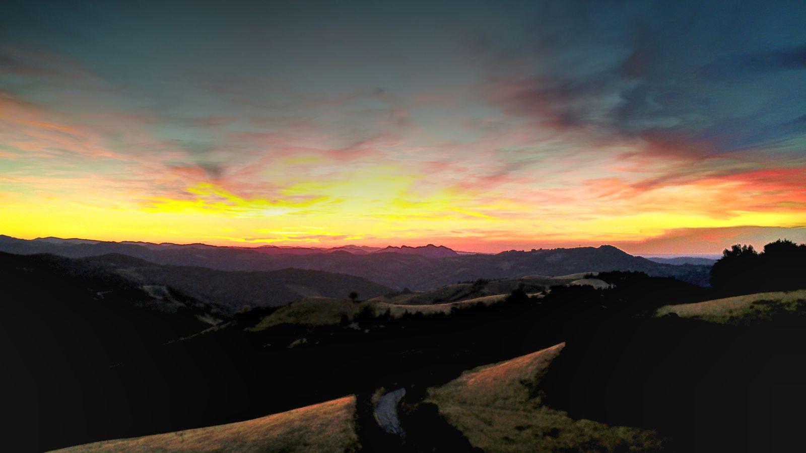 Sunset on the hillss