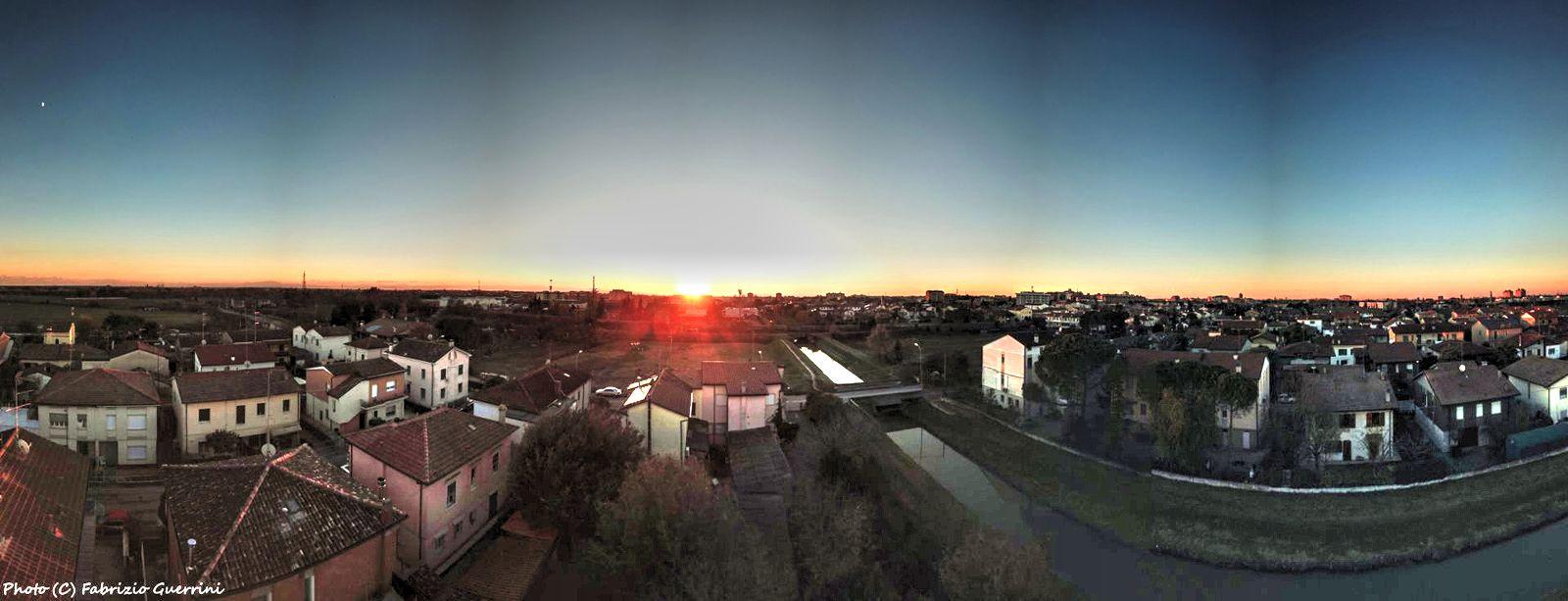 Panoramic sunset over Ravenna