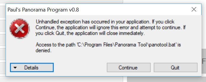 Pauls Pano Tool error.JPG