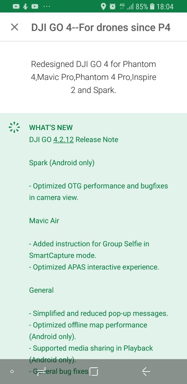 OTG for spark,is it back in DJI GO 4_4 2 12 | DJI FORUM