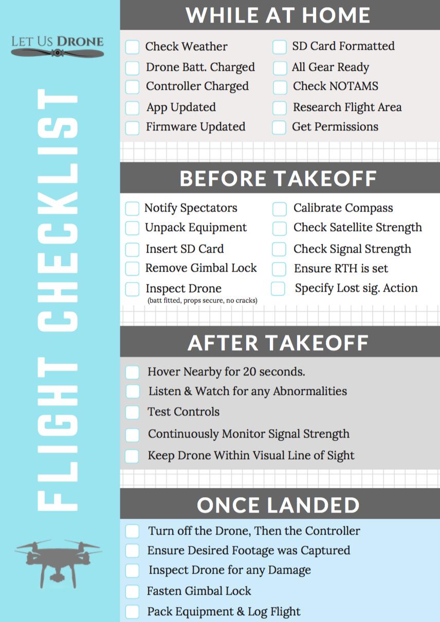 flight checklist dji forum