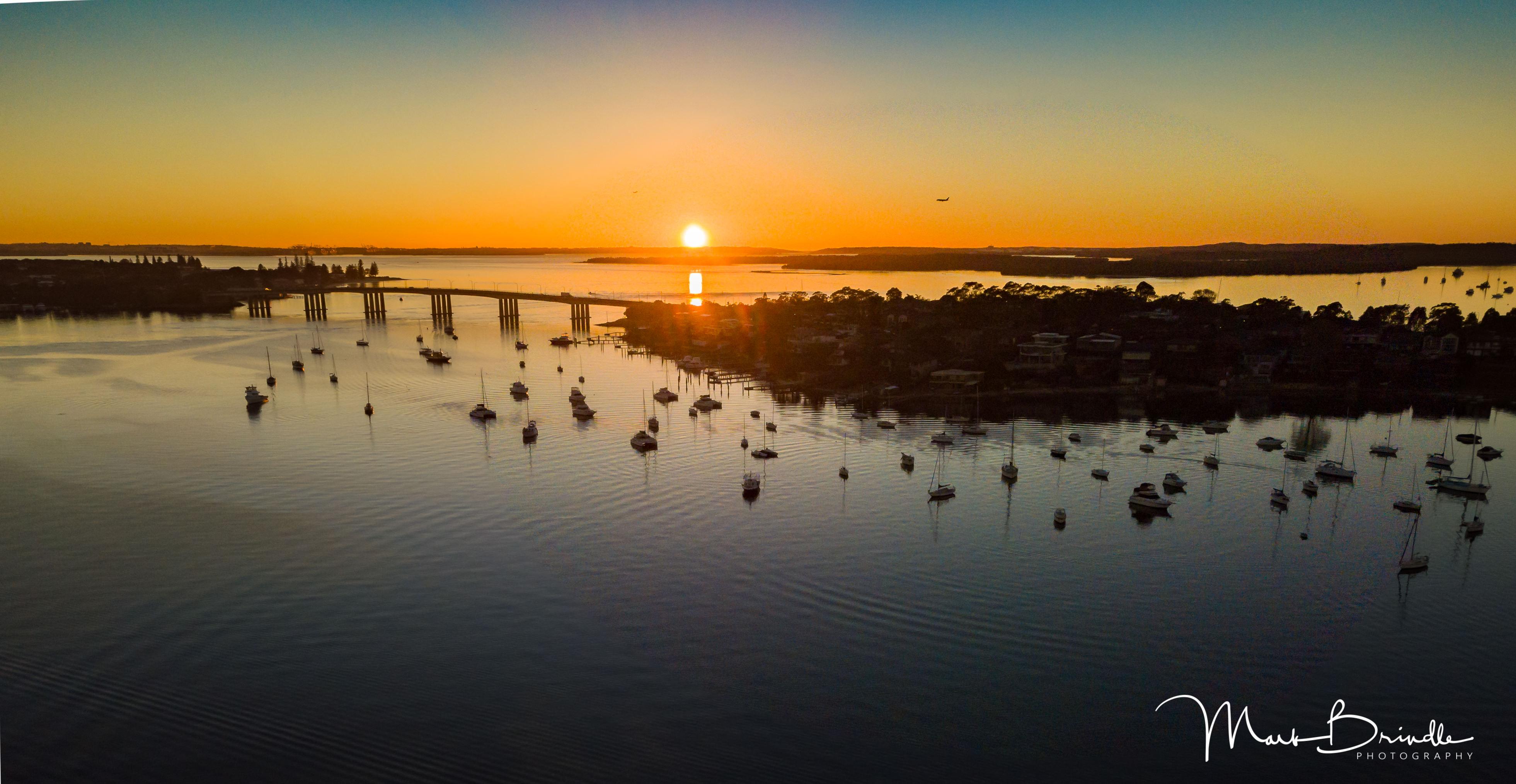 Sunrise over Captain Cook Bridge, NSW. Australia