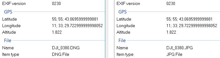 Windows EXIF information