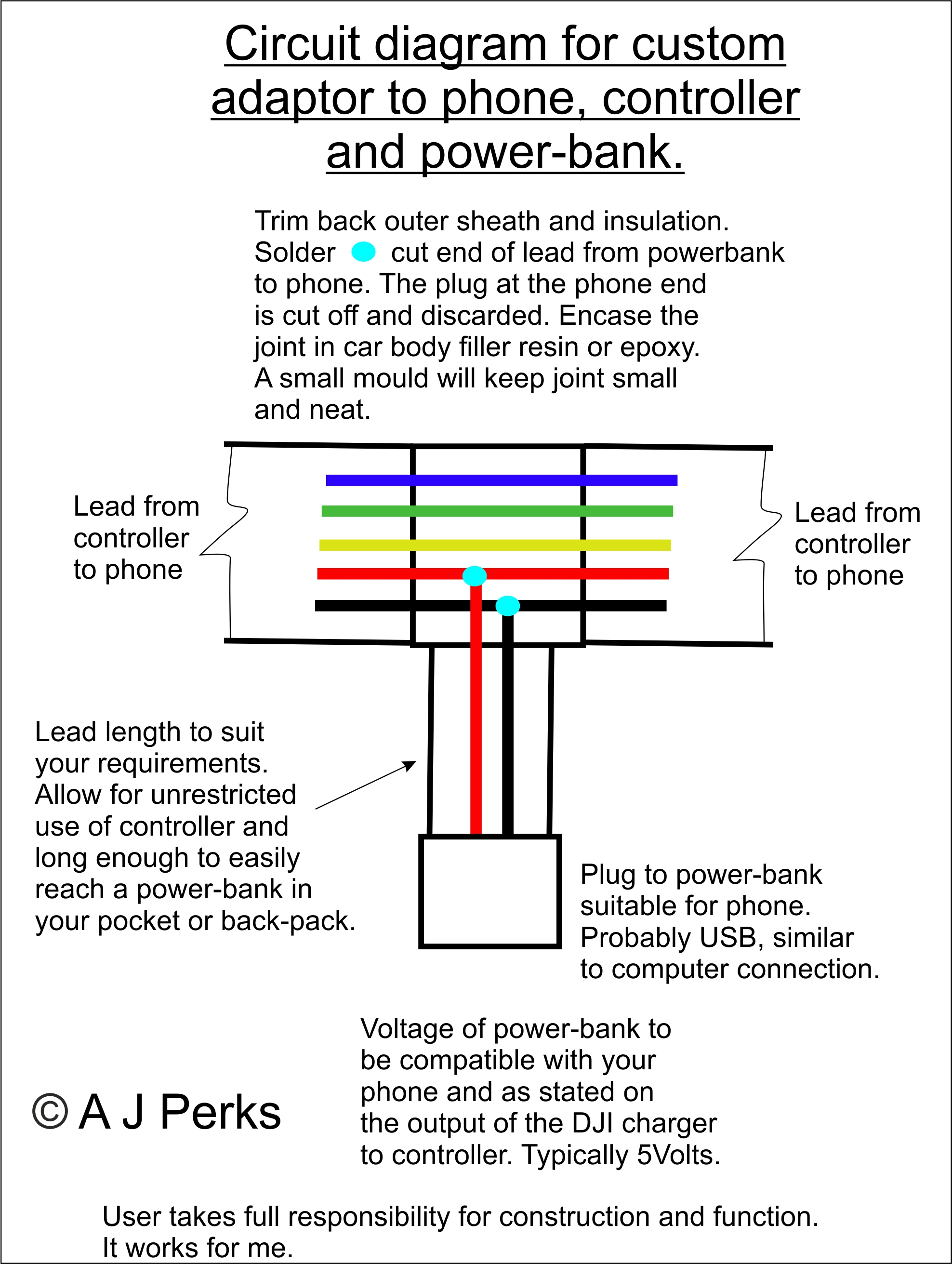 Power Adaptor For Phone Controller From Powerbank Dji Forum Mini Usb Car Charger Wiring Diagram